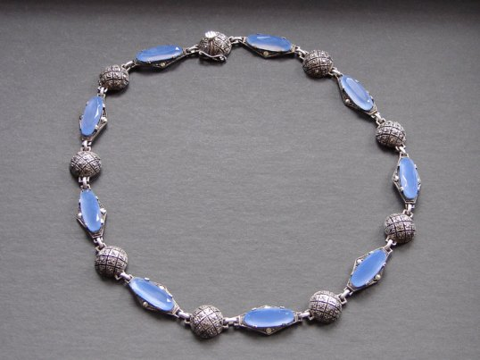 Birks sterling chalcedony necklace