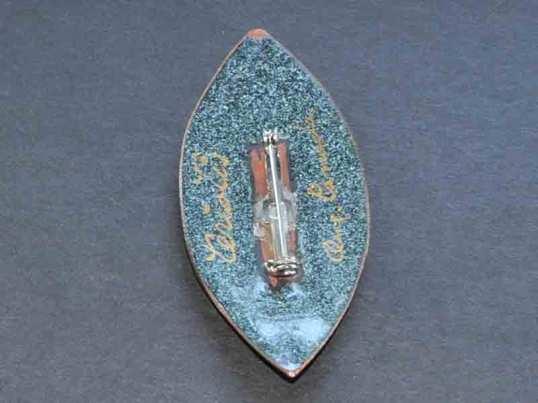 Quebec enamel pin back