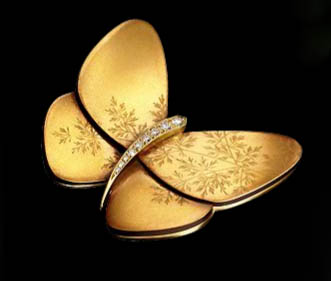 Jewel of the day: Van Cleef & Arpels lacquered butterfly ...