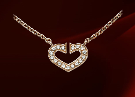 Jewel of the day heart of cartier diamond pendant intotemptation advertisements aloadofball Images