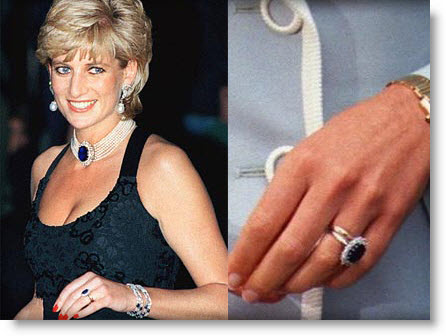 Jewel of the day Kate Middletons sapphire and diamond engagement