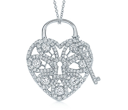 Jewel of the day tiffany filigree diamond heart pendant and key advertisements aloadofball Choice Image
