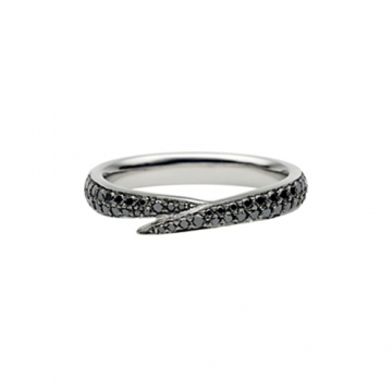 Bridals And Grooms Beautiful Black Diamond Wedding Band For Women