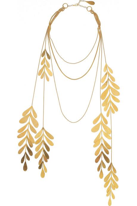 jewel of the day herve van der straeten leaf necklace. Black Bedroom Furniture Sets. Home Design Ideas