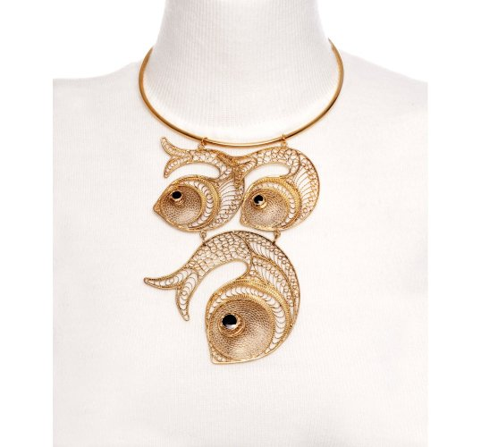 Kastur jewels fish necklace