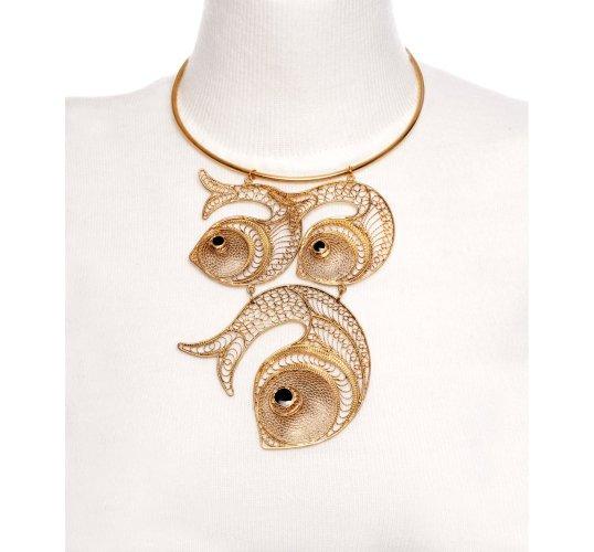 Kastur jewels fish necklace