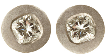 Malcolm Betts diamond stud earrings