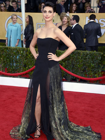 Getty Images/Morena Baccarin arriving at the Screen Actors Guild Awards