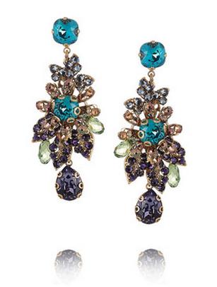 Bijoux Heart blue crystal earring