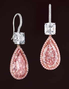 Leviev pink diamond earrings