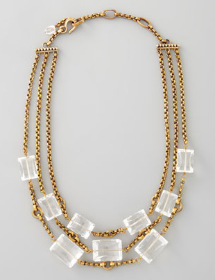 Stephen Dweck three strand rock crystal necklace