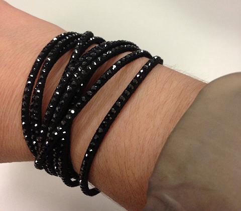 Swarovski microfiber bracelet