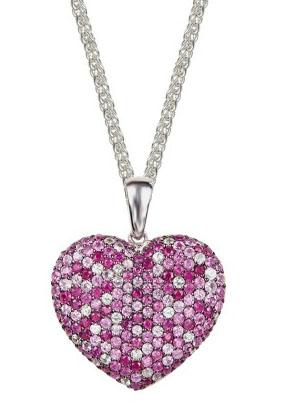 Effy pink sapphire heart pendant