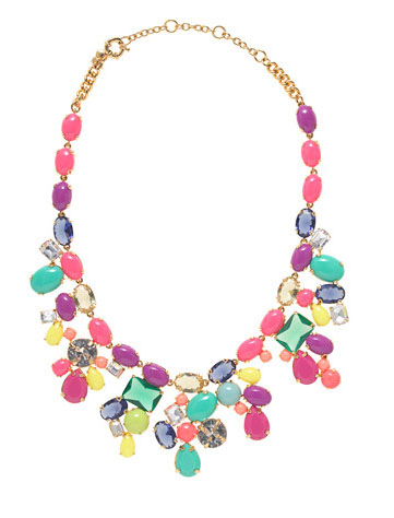 J. Crew color mix statement necklace