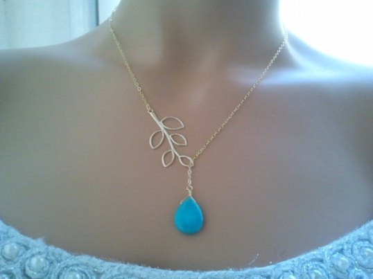 LalaCrystal turquoise necklace