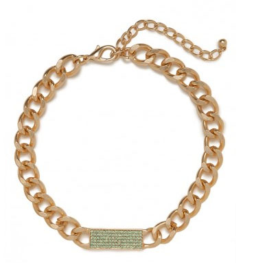 BaubleBar Mint Chain Tab Collar
