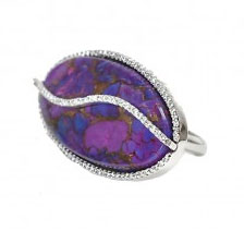 Colette Purple Turquoise and Diamond ring