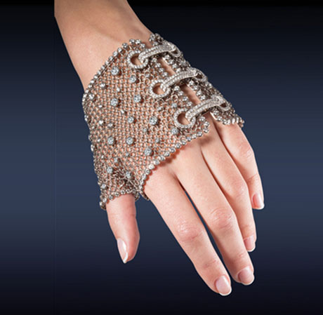 Jacob  and Co Diamond Mesh glove