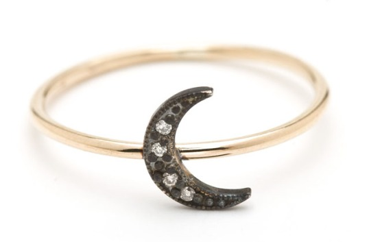 Lena Wald oxidized moon ring