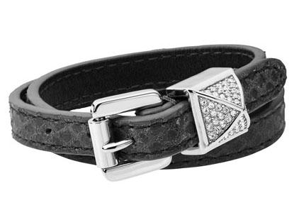 Michael Kors double wrap python bracelet