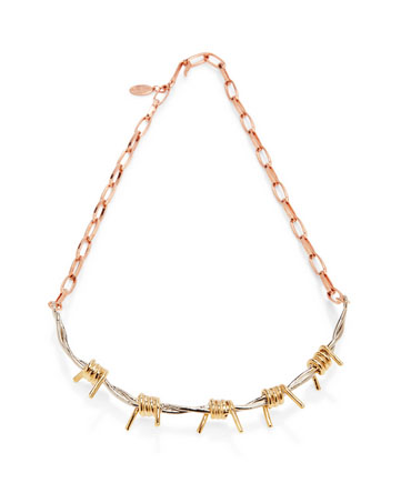 Rodarte barbed wire necklace