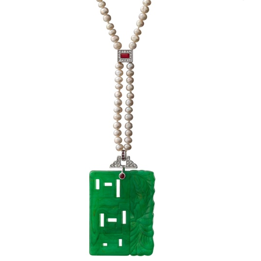 MMA deco chinoiserie necklace