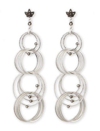 Coomi Spring Silver Links Diamond Earrings