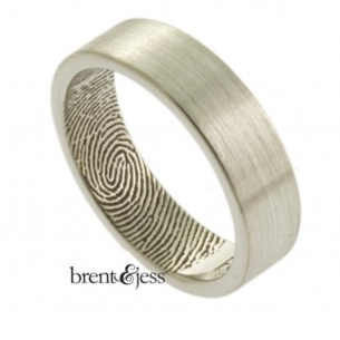 Brent and Jess Fingerprint ring