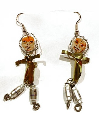 Marita Dingus face earrings