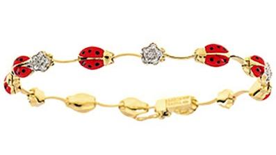 Aaron Basha ladybug bracelet
