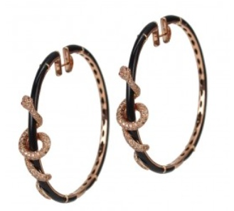 Borgioni Winding Snake Earrings