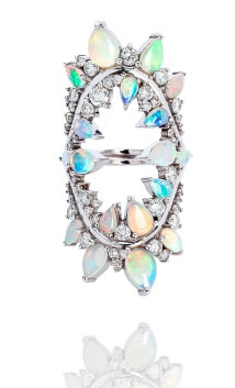 Fernando Jorge Electric Opal and Diamond shock ring 2