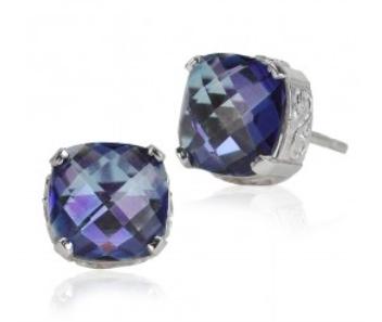 Kalan 14k Blue Topaz Stud earrings