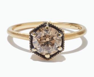 Satomi Kawakita Large Brown Diamond Ring