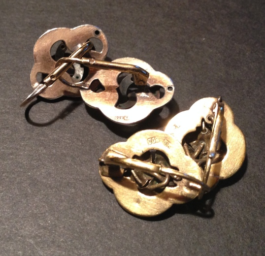 Antique earrings reverse