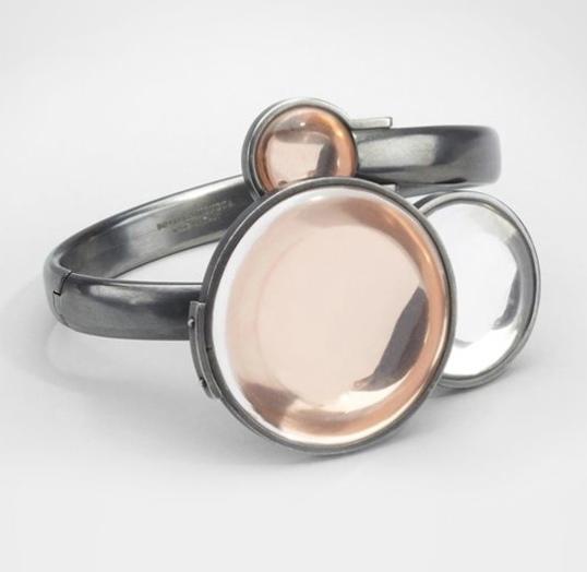 Bottega Veneta Oro Rosa Rock Crystal Bracelet