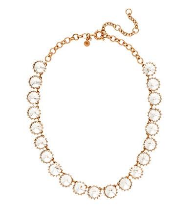 J. Crew Crystal Venus Flytrap Necklace
