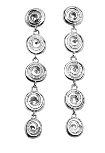 Patrick Mavros Ndoro Silver Earrings