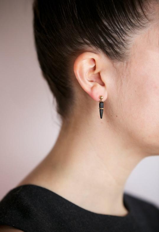 Metonym Leather Dag Earrings