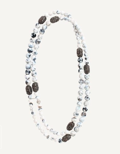 Hipchik White Bead Necklace
