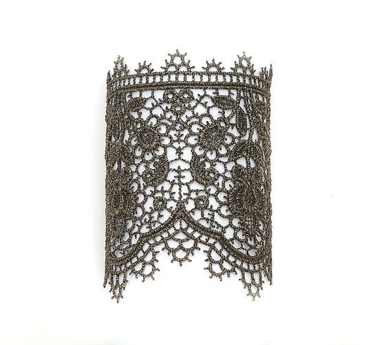 Sappho metallic lace bracelet