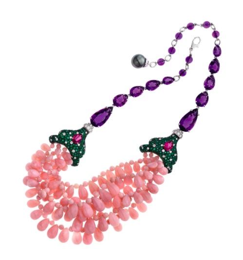 Abellan NY Pink Opal Necklace