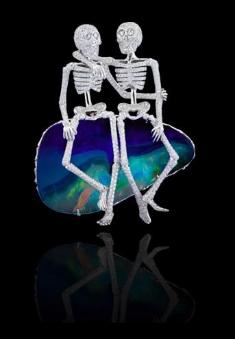 Lydia Courteille Opal Skeleton Pendant