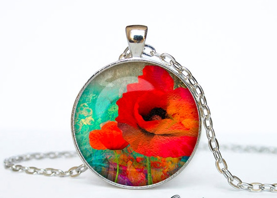 Out of Space Poppy Pendant