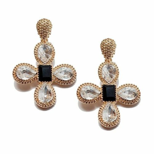 T and J Medallion Earrings