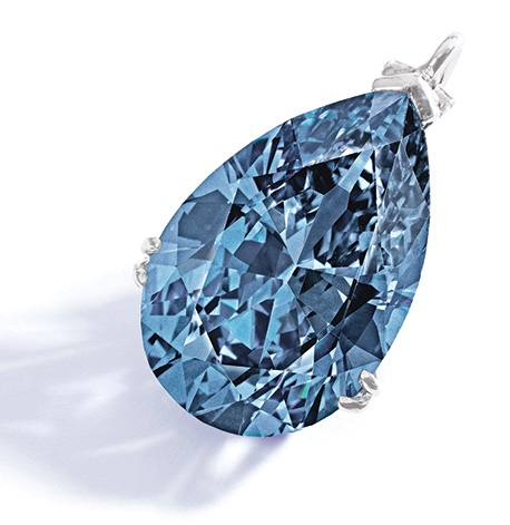 Bunny Mellon Blue Diamond Pendant
