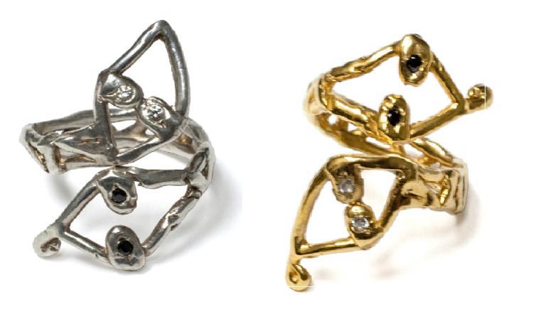 Lina Noel Yin Yang Snake Rings