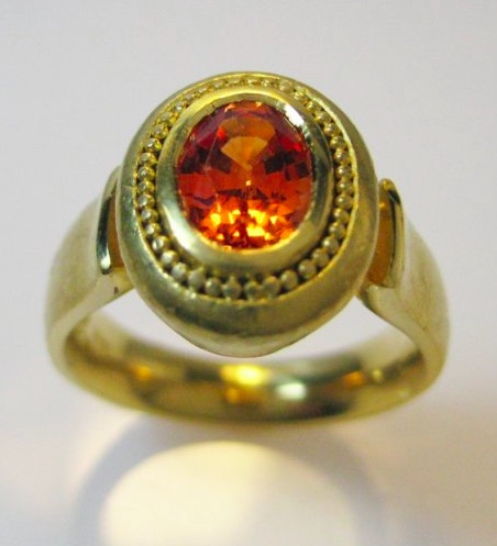 Jeweler on the Roof padparadscha ring