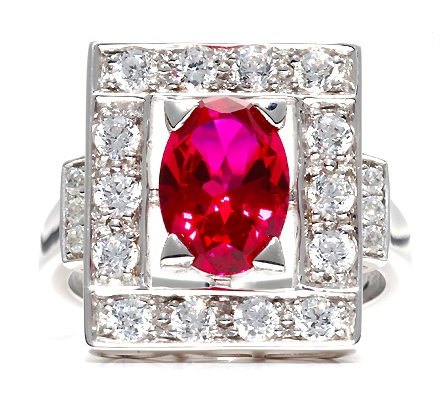 Marlene Dietrich ruby inspired ring