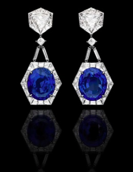 Alexandre Reza Diamond and Sapphire earrings